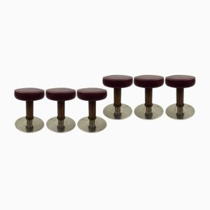 Vintage Bar Stools from Wiesner-Hager, Set of 6