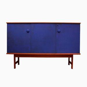 Klein Blue Teak Cabinet, 1970s
