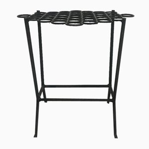 Vintage Wrought Iron Side Table, 1960s