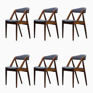 Chaises de Salle à Manger par Kai Kristiansen, Danemark, 1960s, Set de 6