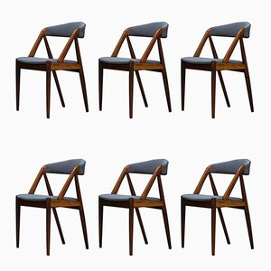 Danish Dining Chairs by Kai Kristiansen, 1960s, Set of 6