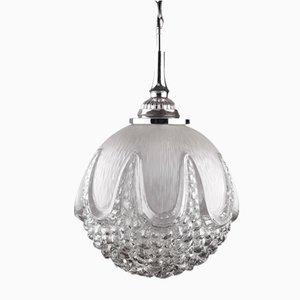 Lampe à Suspension Globe en Verre Murano, 1970s
