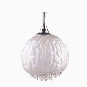 Lámpara con globo de cristal de Murano, años 70