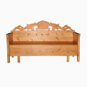 Antique Swedish Softwood Bench