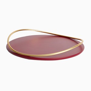 Touché A Tray in Bordeaux by Martina Bartoli for Mason Editions