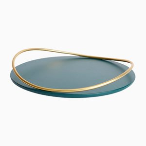 Touché A Tray in Petrol Blue by Martina Bartoli for Mason Editions