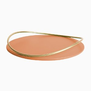 Touché A Tray in Terracotta by Martina Bartoli for Mason Editions