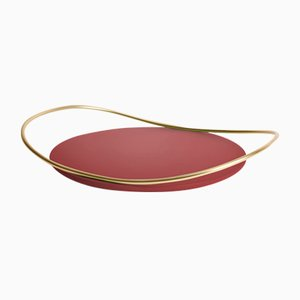 Touché B Tray in Bordeaux by Martina Bartoli for Mason Editions