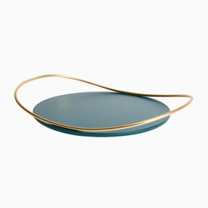 Touché B Tray in Petrol Blue by Martina Bartoli for Mason Editions