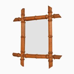 Französischer Spiegel in Bambus Optik, 1940er