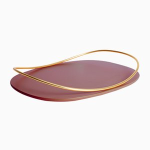 Touché C Tray in Bordeaux by Martina Bartoli for Mason Editions