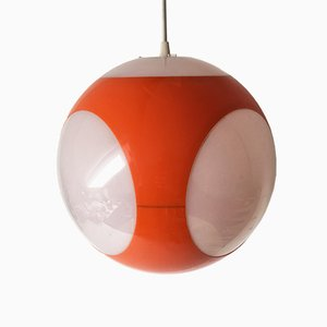 Lampada a sospensione modello UFO Space Age arancione di Luigi Colani, anni '60