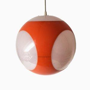 Lámpara colgante modelo UFO era espacial en naranja de Luigi Colani, años 70
