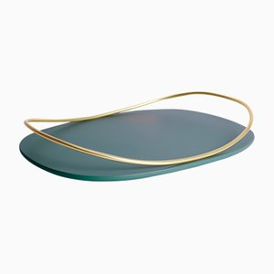 Touché C Tray in Petrol Blue by Martina Bartoli for Mason Editions