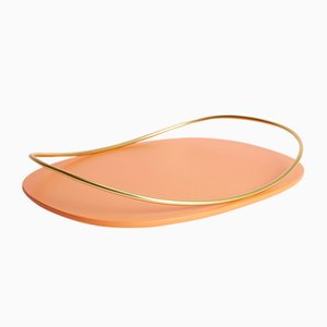 Touché C Tray in Terracotta by Martina Bartoli for Mason Editions