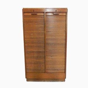 Vintage Oak Cabinet with 2 Shutters