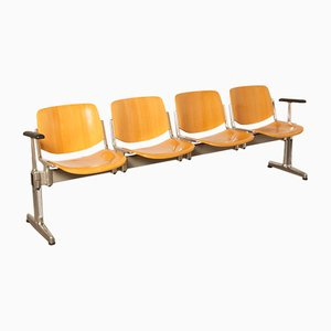Axis 3000 4-Seater Bench by Giancarlo Piretti for Castelli / Anonima Castelli, 1970s