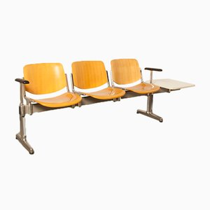 Axis 3000 3-Seater Bench with Side Table by Giancarlo Piretti for Castelli / Anonima Castelli, 1970s