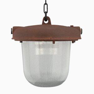 Lampe à Suspension Industrielle Mid-Century, Ancien Bloc de l'Est