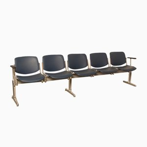 Piretti Axis 3000 5-Seater Bench by Giancarlo Piretti for Castelli, 1970s