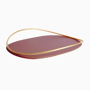 Touché D Tray in Bordeaux by Martina Bartoli for Mason Editions