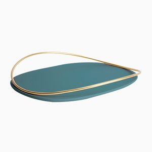 Touché D Tray in Petrol Blue by Martina Bartoli for Mason Editions