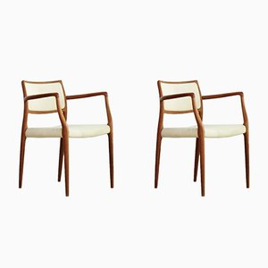 Model 65 Chairs by Niels Otto Møller for J. L. Møllers, 1960s, Set of 2