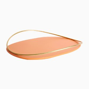 Touché D Tray in Terracotta by Martina Bartoli for Mason Editions