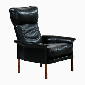 Danish Rosewood & Leather Armchair, 1960s
