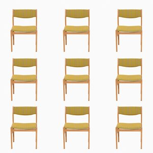 Mid-Century Dining Room Chairs by Erik Wørts for FDB Mobler, Set of 9