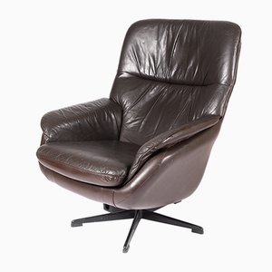 Vintage Leather Swivel Chair