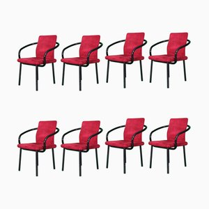 Vintage Mandarin Chairs by Ettore Sottsass, Set of 8