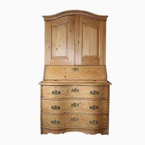 Antique Baroque Softwood Secretaire