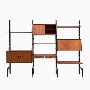 Dutch Wall Unit by Louis Van Teeffelen for Wébé, 1950s