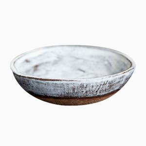 Dolomite Wide White Serving Bowl from Kana London