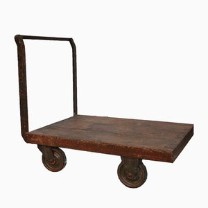Antique Industrial Luggage Cart