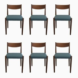 Teak Dining Chairs by Poul M. Volther for Frem Røjle, 1960s, Set of 6