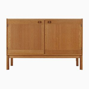 Vintage Scandinavian Sideboard in Light Oak from Vitré