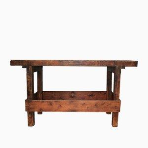 Antiker Werktisch aus Holz
