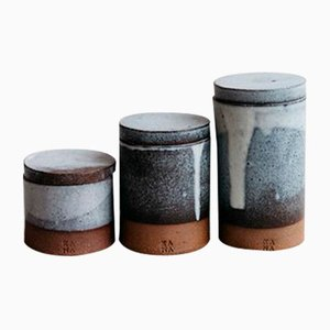 Dolomite White Rule of Third Vessels from Kana London, Set of 3