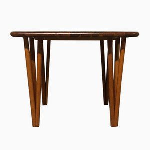 Table Basse Mid-Century en Teck par Severin Hansen pour Haslev, 1960s