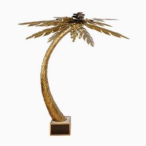 Palmen Stehlampe von Maison Jansen, 1970er