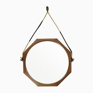 Italienischer Spiegel mit Teak Rahmen, 1960er