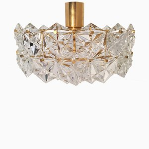 Vintage 4-Tiered Crystal Ceiling Lamp from Kinkeldey, 1960s