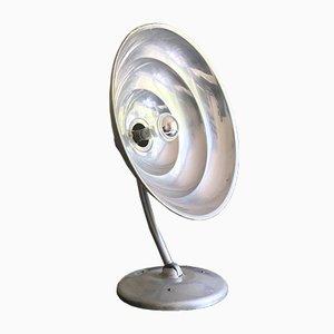 Lampada da tavolo Sun in alluminio, anni '40