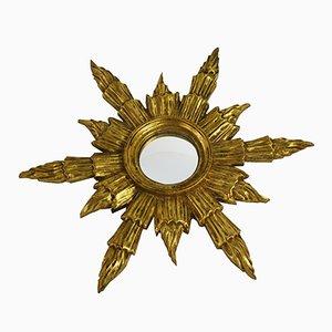 Goldener Mid-Century Sonnen Spiegel, 1960er