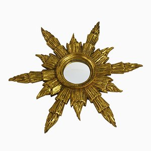 Specchio Sunburst dorato, anni '60