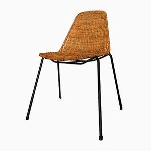 The Basket Stuhl aus Korbgeflecht von Gian Franco Legler, 1950er