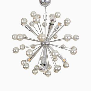 Space Age Italian Sputnik Chrome-Plated Chandelier, 1960s