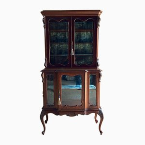 Antique Victorian Mahogany Display Cabinet, 1890s